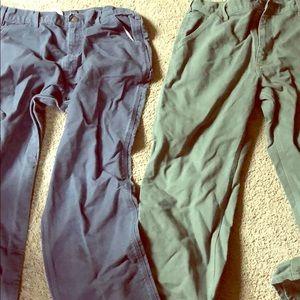 Two carhartt pants.